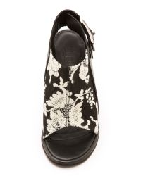 Tibi Black Milou Brocade Booties White Tapestry