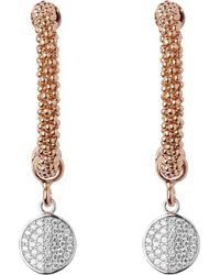 Links of London | Pink Star Dust Rose Gold-plated Cubic Zirconia Drop Earrings | Lyst