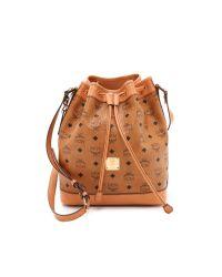 MCM Brown Small Drawstring Bag - Cognac