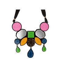 Yazbukey | Pink Big Tie Diamonds Necklace Multi | Lyst