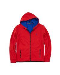 Polo Ralph Lauren | Red Bonded-fleece Jacket for Men | Lyst