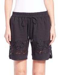 3.1 Phillip Lim - Black French Terry Shorts - Lyst