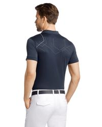 BOSS Green Blue Slim-Fit Golf Polo Shirt 'Parsof' With Polygiene Stay Fresh Technology for men