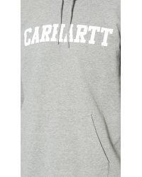 Carhartt WIP - Gray Hooded College Sweatshirt for Men - Lyst