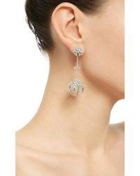 Paul Morelli - Metallic Mixed Diamond Cluster Sphere Drop Earrings - Lyst