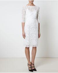 Dolce & Gabbana | White Daisy Lace Embellished Dress | Lyst