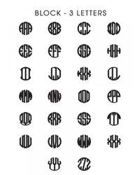 BaubleBar - Multicolor Acrylic Block Monogram Necklace - Lyst