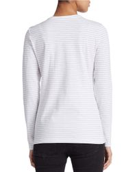 Lord & Taylor | White Pleated Roundneck Shell | Lyst