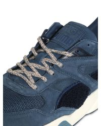 Puma Select | Blue R698 Bwgh Mesh & Suede Sneakers | Lyst