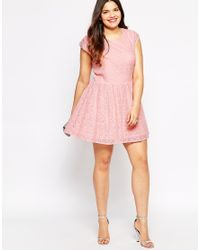 Diya Pink Plus Size White And Green Ombre Lace Dress
