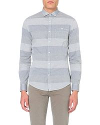 Armani Jeans | Blue Striped Cotton Shirt for Men | Lyst