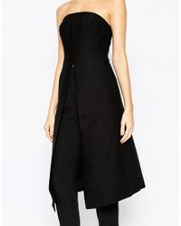 C/meo Collective | Seasons Change Strapless Tunic In Black - Black | Lyst