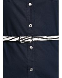 Mango - Blue Cotton Shirt Dress - Lyst