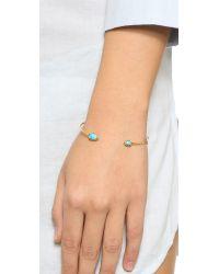 Tai | Blue Dual Stone Bracelet - Turquoise/gold | Lyst