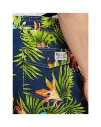 Polo Ralph Lauren   Blue Flower-print Swim Shorts for Men   Lyst