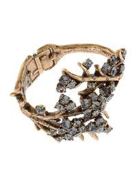 Oscar de la Renta | Metallic Crystal Branch Cuff | Lyst