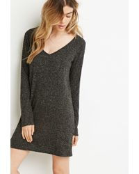 Forever 21 | Gray Ribbed Sweater Dress | Lyst