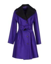 Jil Sander Navy - Purple Coat - Lyst