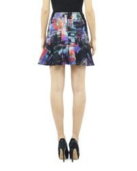 Nicole Miller Multicolor Reed Watercolor Skirt