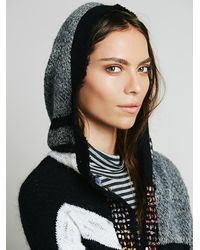 Free People Gray Solstice Poncho