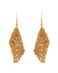 Diane von Furstenberg - Brown Thea Mesh Drape Earrings - Lyst