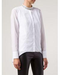 Brunello Cucinelli | White Embellished Collar Shirt for Men | Lyst
