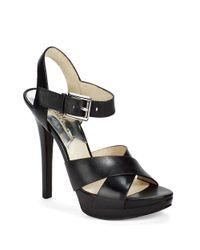 MICHAEL Michael Kors | Black Oksana Platform Heels | Lyst