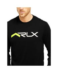 "Ralph Lauren - Black ""rlx"" Graphic T-shirt for Men - Lyst"