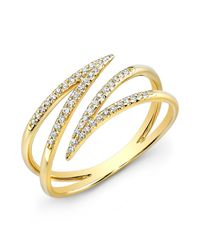 Anne Sisteron - 14kt Yellow Gold Diamond Spike Wrap Ring - Lyst