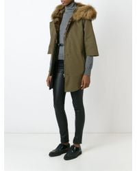 Forte Couture - Green Fur Trimmed Parka - Lyst