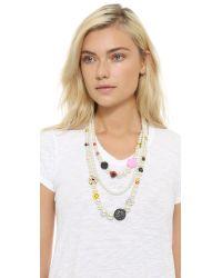 Venessa Arizaga - White Snack Attack Imitation Pearl Necklace - Pearl Multi - Lyst