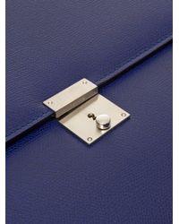 Valextra Blue Leather Document Holder for men