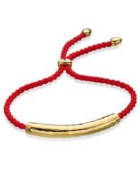 Monica Vinader Purple Fiji 18ct Gold-plated Friendship Bracelet