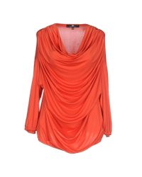 Elisabetta Franchi - Orange T-shirt - Lyst