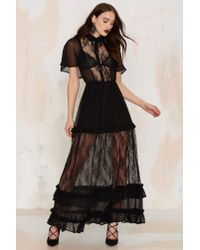 Nasty Gal | Black Luella Lace Maxi Dress | Lyst