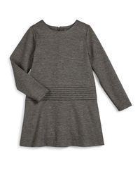 Vince - Black Long-sleeve Knit Cummerbund Shift Dress - Lyst