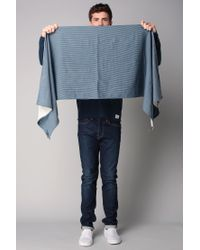 Scotch & Soda - Blue Scarf for Men - Lyst