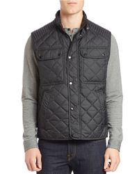 Andrew Marc | Black Tribeca Quilted Vest for Men | Lyst