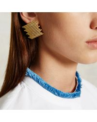Trademark | Metallic Stacked Pipe Earring | Lyst
