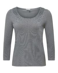 Jacques Vert Gray Pearl Cluster Jumper
