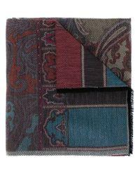 Etro - Multicolor Paisley Jacquard Scarf - Lyst