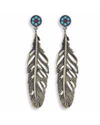 Platadepalo | Metallic Classic Silver Feather Earrings | Lyst
