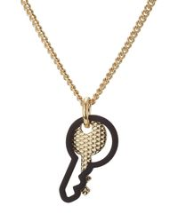 Marc By Marc Jacobs | Metallic Double Key Necklace - Gold | Lyst