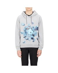 Christopher Kane Gray Ice-explosion-graphic Hoodie for men