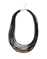 Forever 21 | Metallic Beaded Cord Necklace | Lyst