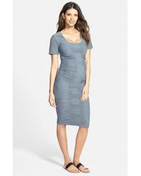 Tees by Tina | Gray Crosshatch Maternity Dress | Lyst