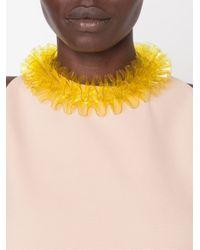 Mary Katrantzou - Yellow Ruffle Necklace - Lyst
