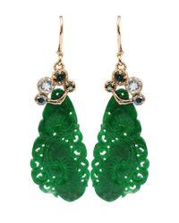 Federica Rettore - Green Jade Earrings - Lyst