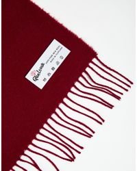 Glen Lossie - Red Lambswool Scarf for Men - Lyst