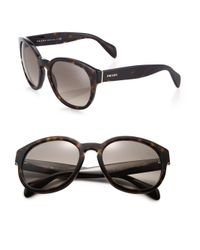 Prada | Brown 56mm Square Sunglasses | Lyst